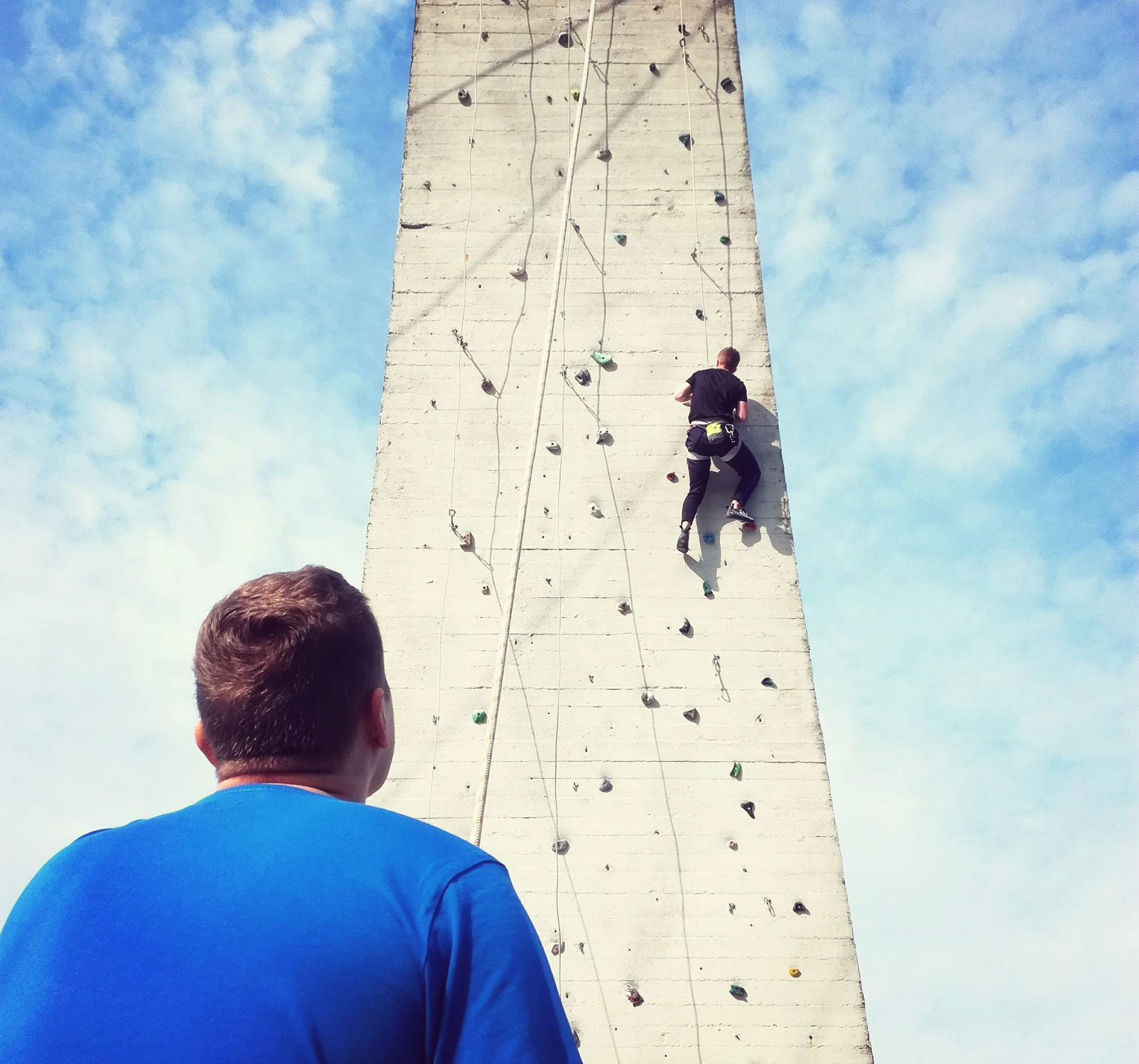 wspinaczkowe kadry - wspinaczka w mieście
