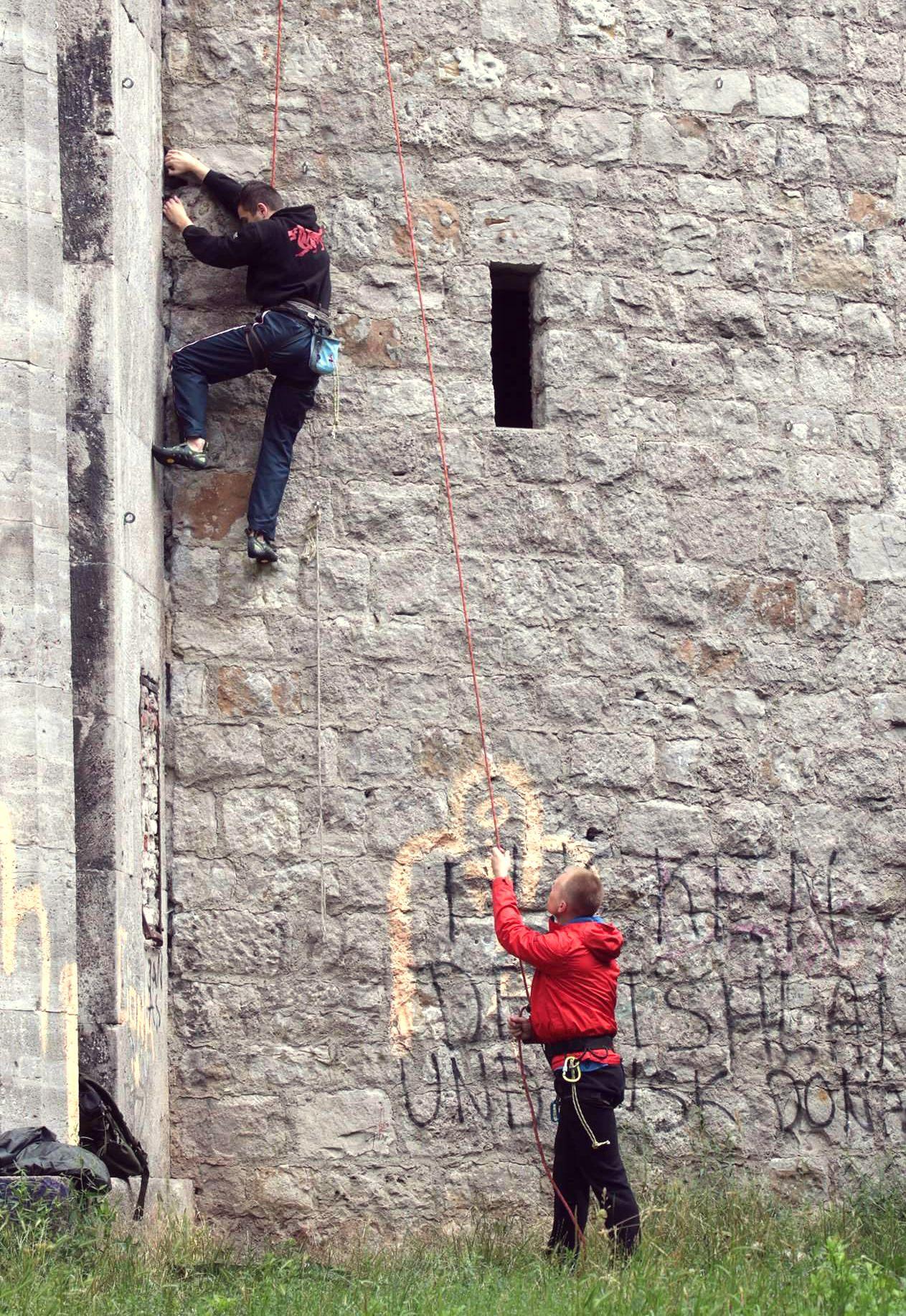 wspinaczkowe kadry - wieża gocławska 5